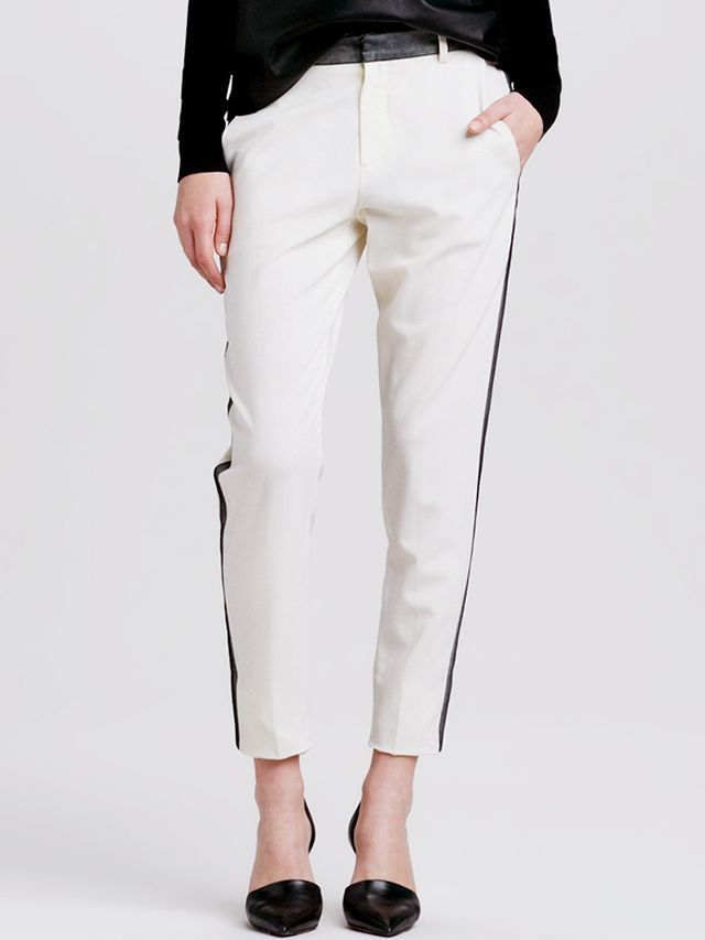 Vince Contrast-Stripe Cropped Trousers