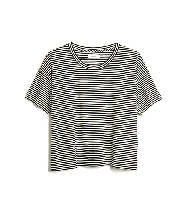Madewell Crop Tee in Stripe