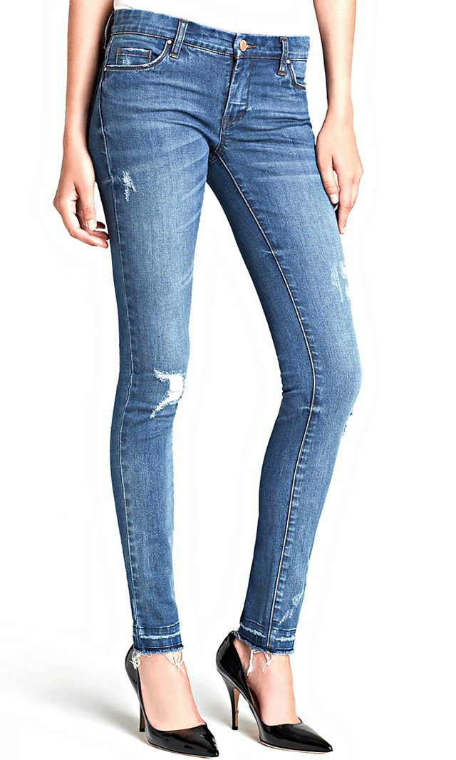 BLANK NYC Destructed Skinny Jeans
