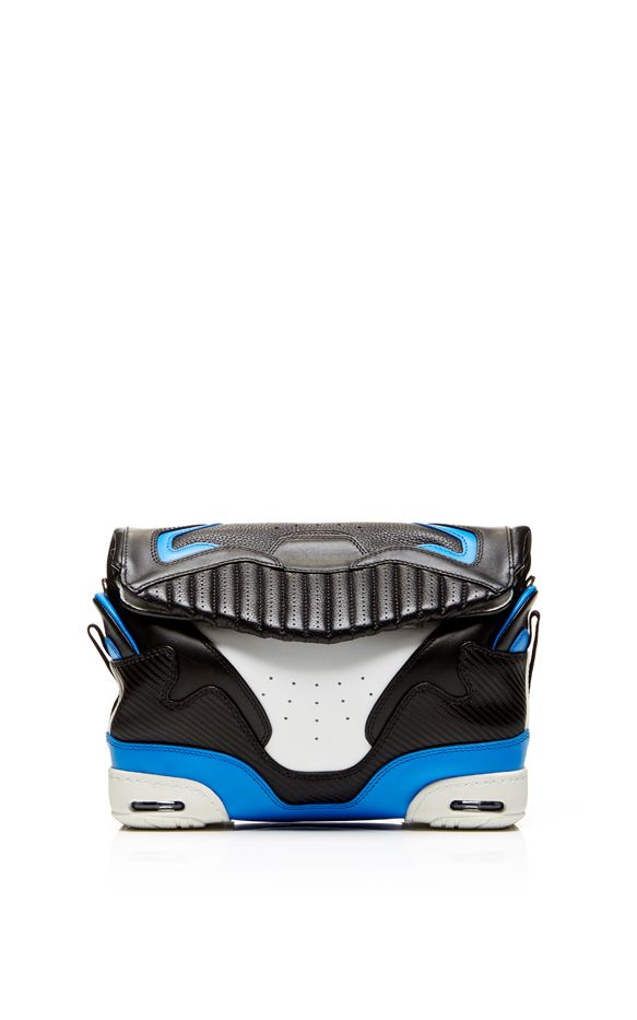 Alexander Wang Small Sneaker Bag In Black And Airforce