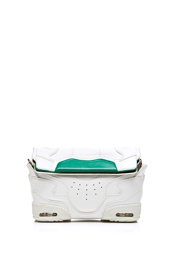 Alexander Wang Small Sneaker Sling In Optic White and Astroturf