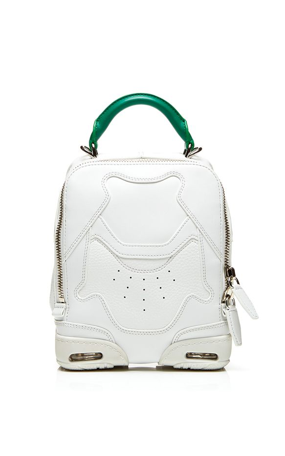 Alexander Wang Small Sneaker Bag In Optic White and Astroturf