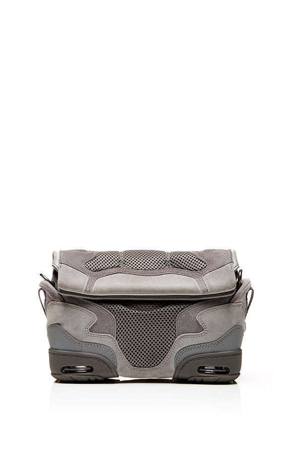 Alexander Wang Small Sneaker Sling In Light Concrete With Mesh