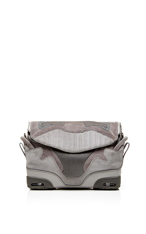 Alexander Wang Large Sneaker Sling In Light Concrete With Mesh