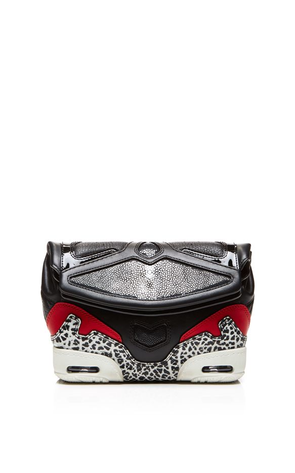 Alexander Wang Sneaker Clutch Black, Lacquer, and Stingray