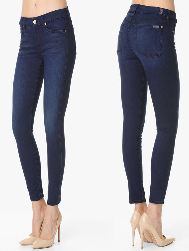 7 For All Mankind The Second Skin Slim Illusion Ankle Skinny Contour Jeans