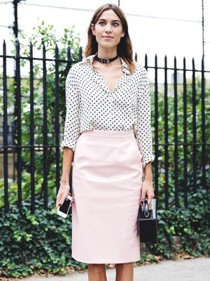 Tip of the Day: Snag Alexa Chung's Pink and Polka-Dot Look