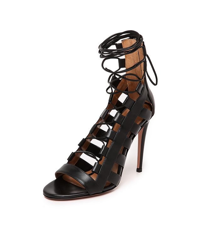 Aquazzura Amazon Lace-Up Sandals