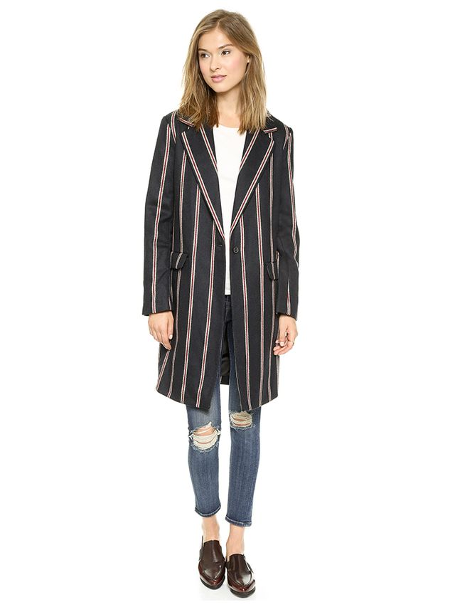 Elizabeth and James Iris Boyfriend Stripe Jacket