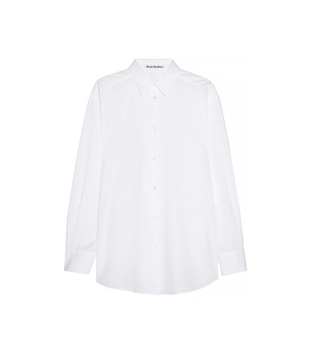 Acne Studios Leia Oversized Cotton-Poplin Shirt