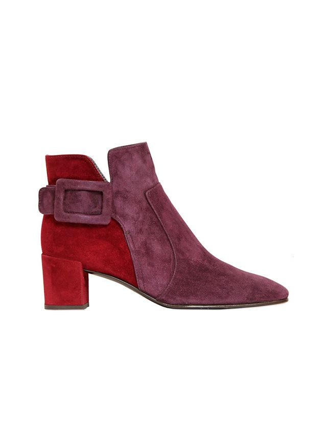 Roger Vivier Polly Two Tone Suede Ankle Boots