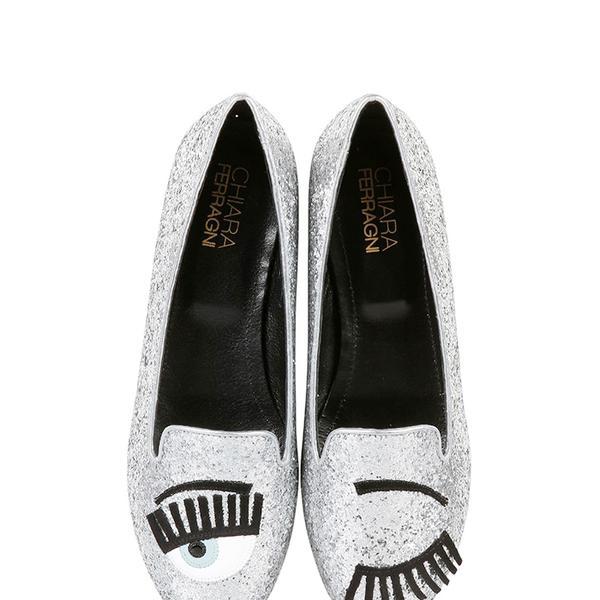 Chiara Ferragni Blink Eye Glitter Loafers
