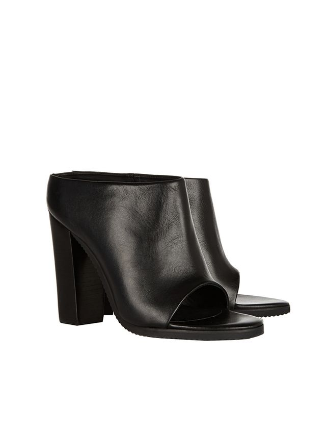 Tibi Leona Leather Mules