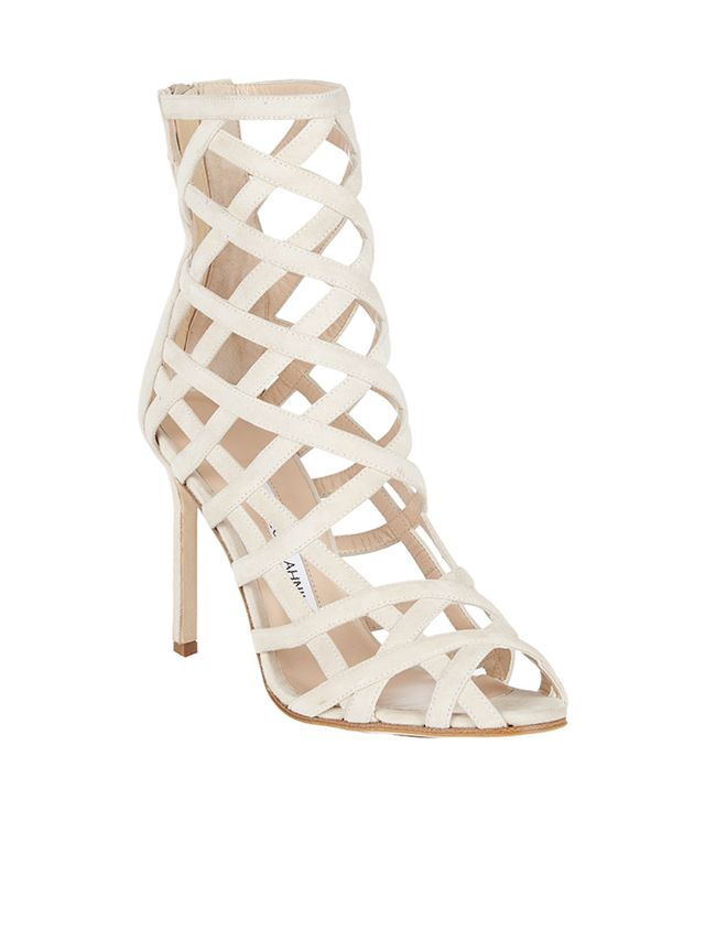 Manolo Blahnik Vagibu Caged Sandals