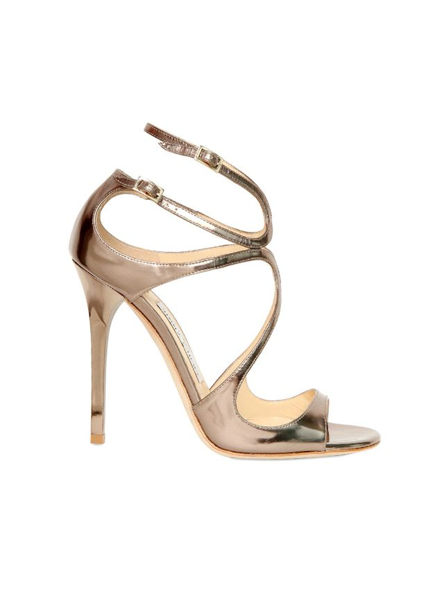 Jimmy Choo Lang Metallic Calfskin Sandals