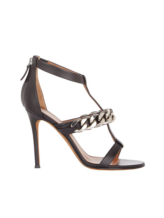 Givenchy Mirtilla Chain-Link T-strap Sandals