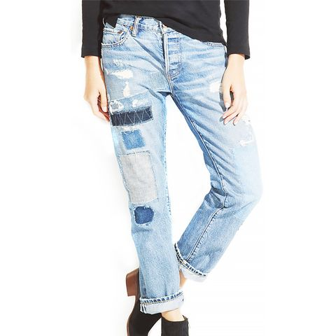 Beck Patched Boyfriend Jeans