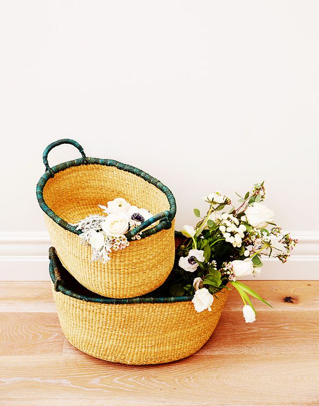 The Little Market Nested Elephant Grass Baskets