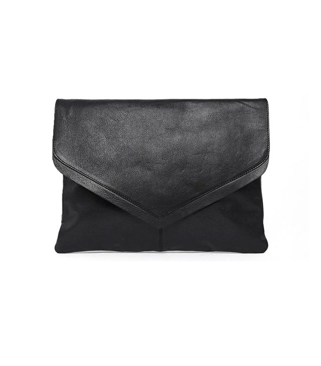 ASOS Sleek Leather Clutch Bag