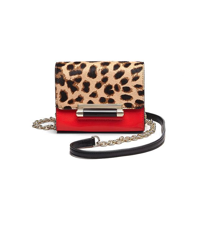 Diane Von Furstenberg Micro Mini Leopard Haircalf