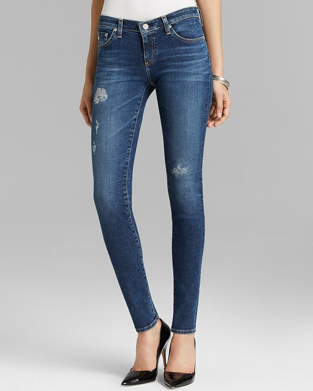 AG Adriano Goldschmied Jeans The Legging in 10 Year Mend Bloomingdales