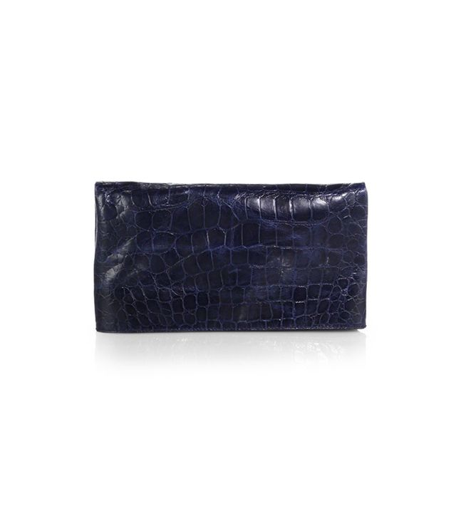Alice + Olivia Crocodile-Embossed Convertible Clutch