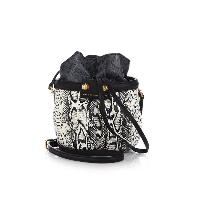 Marc by Marc Jacobs Jen Printed-Leather Bucket Bag