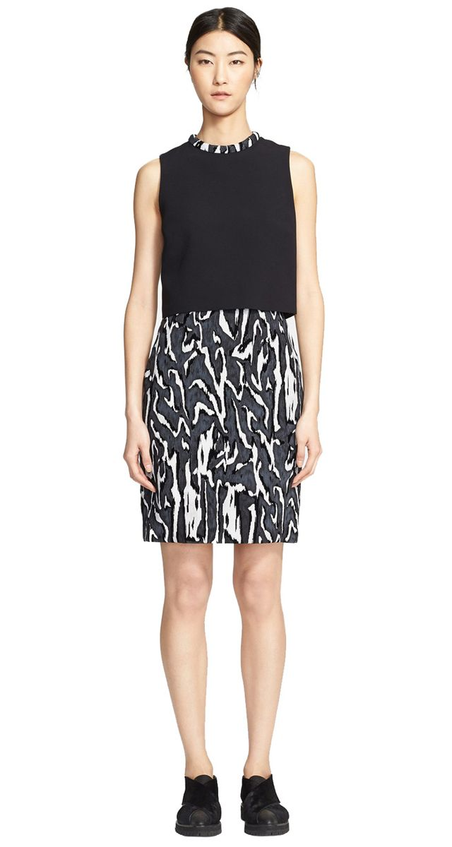 Proenza Schouler Layered Bodice Print Dress
