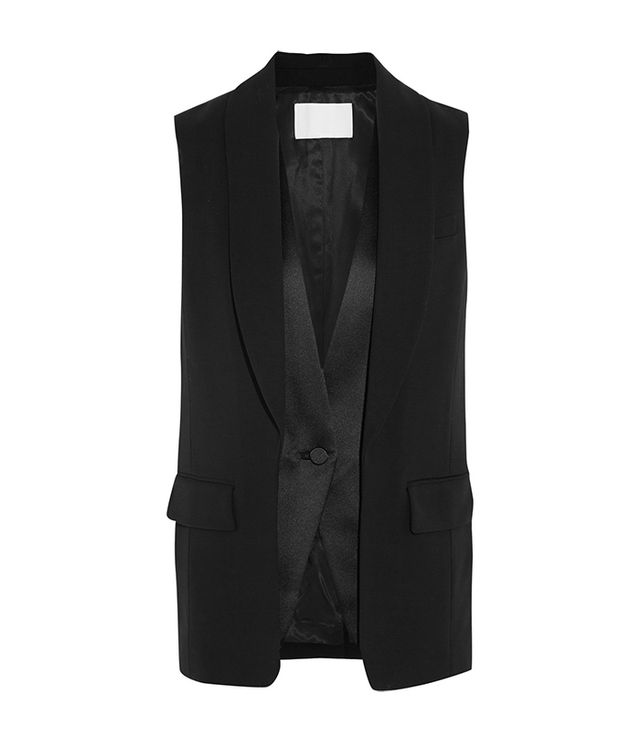 Alexander Wang Wool-Blend And Satin Vest