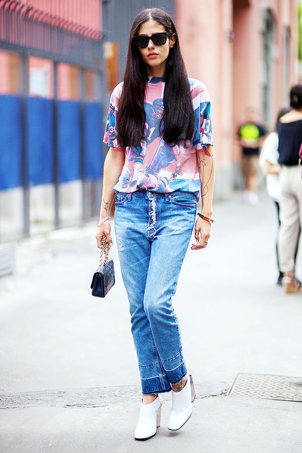 Get the Look: Marni Stripe-Cuff Boyfriend Jeans ($475)