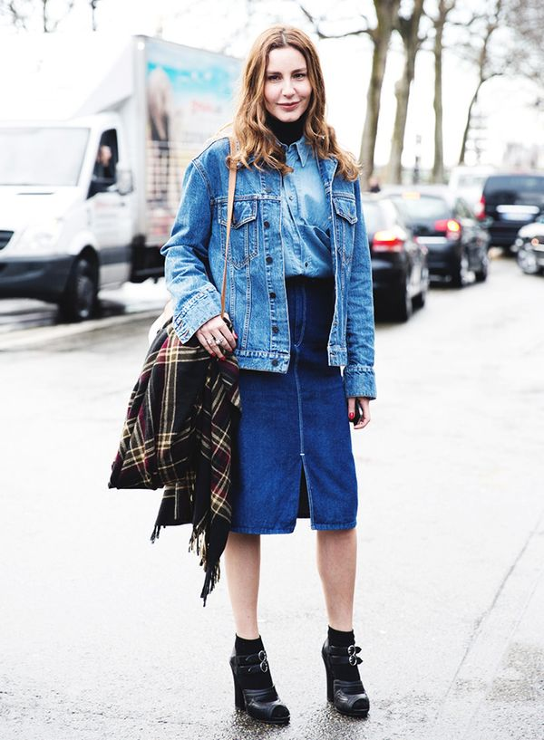 Get the Look: Levi's Vintage Denim Skirt ($215)
