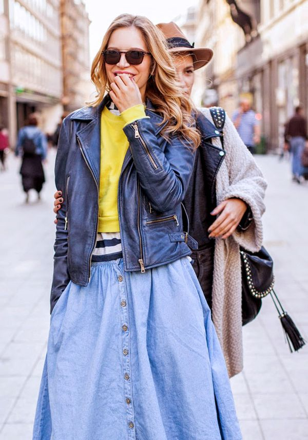 Get the Look: Nina Denim Skirt ($63)