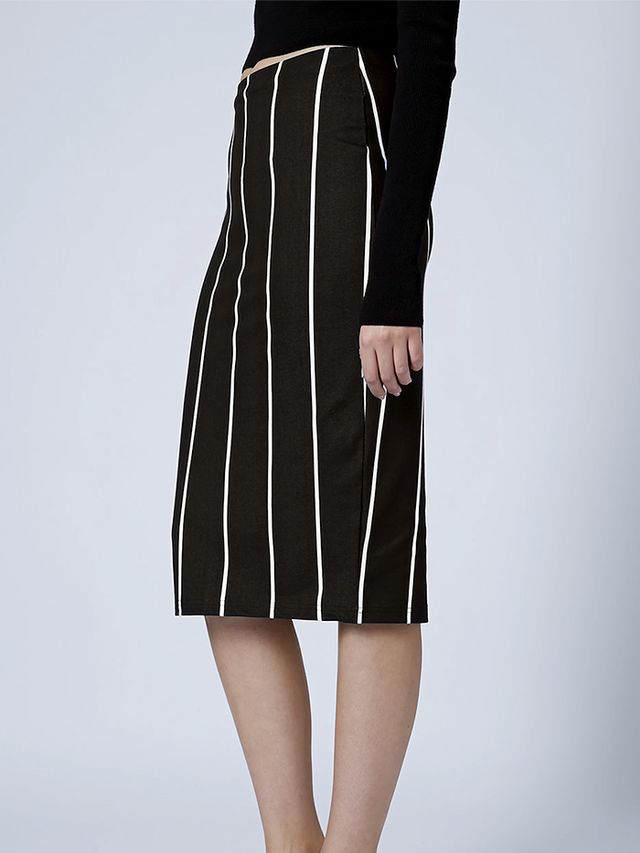 Topshop Pinstripe Tube Skirt