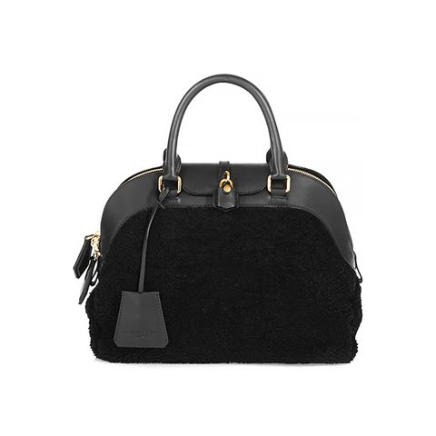 Medium Shearling and Leather Tote