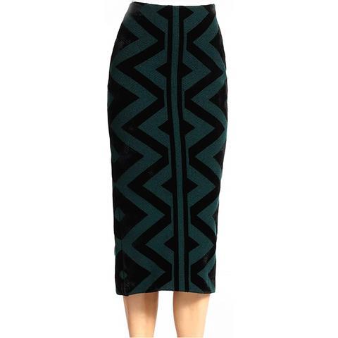 Knit Blanket Pencil Skirt