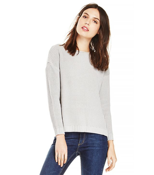 Achro Step-Cropped Back Sweater