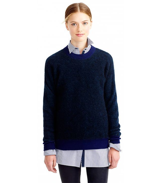 J. Crew Brushed Mohair Boyfriend Sweatshirt
