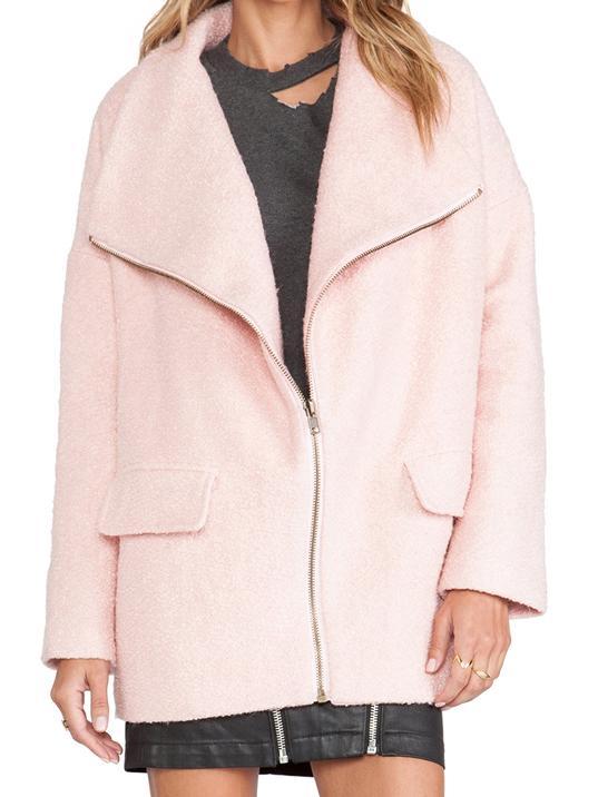 Lovers + Friends Merci Coat in Powder Pink