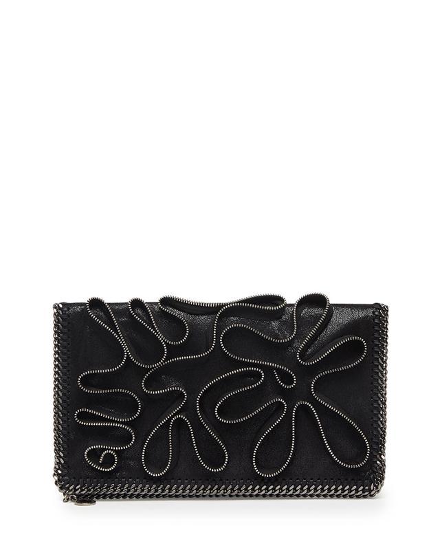 Stella McCartney Falabella Zipper-Trim Fold-Over Clutch Bag