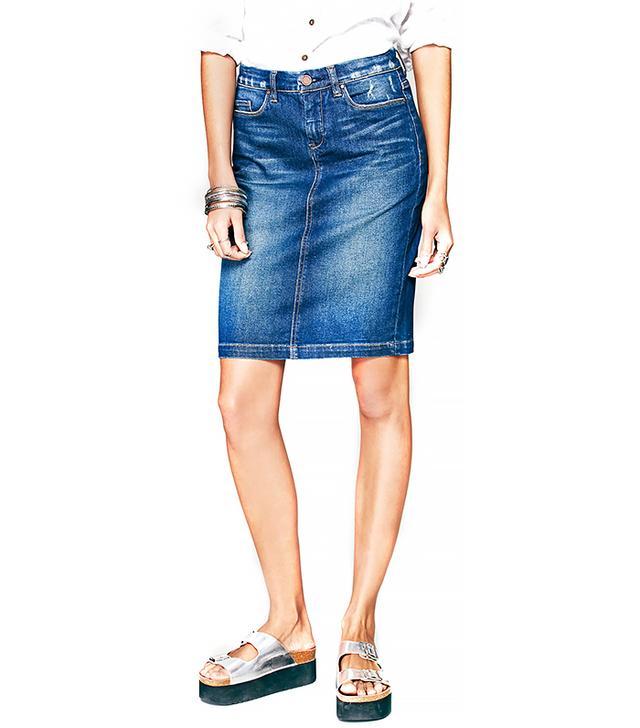 Blank NYC Faithful Denim Skirt