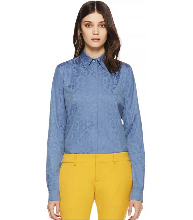 Gucci Leopard Print Chambray Shirt