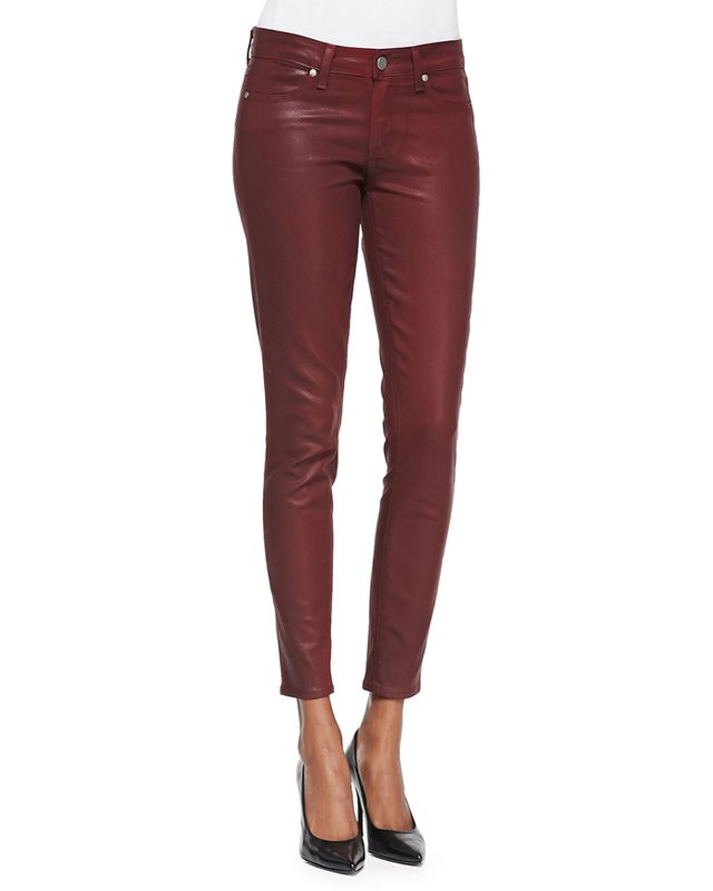 Paige Denim Verdugo Coated Skinny Ankle Jeans