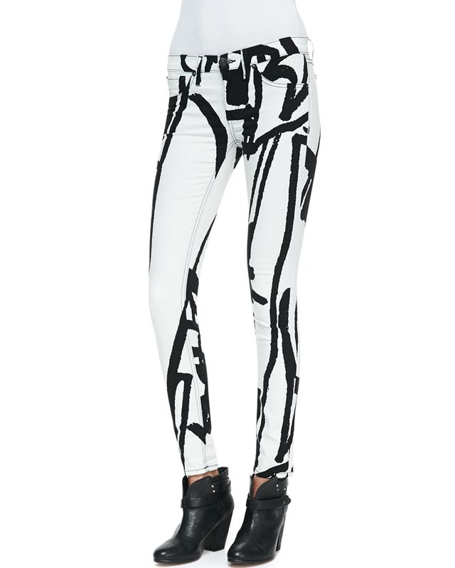 Rag and Bone White Robot Legging Jeans