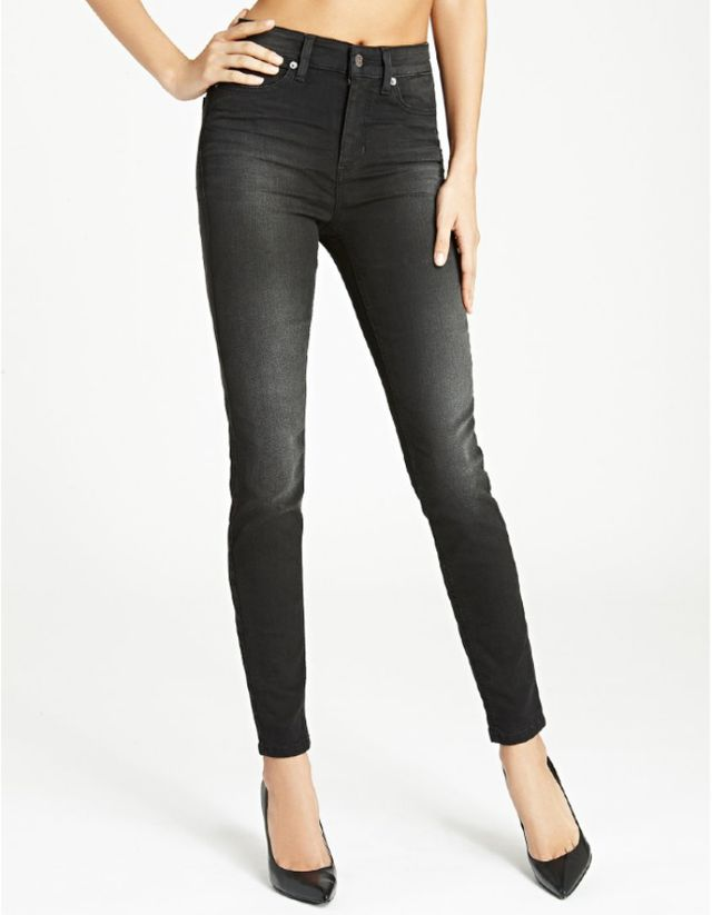 Guess 1981 High-Rise Skinny Jeans in Faded Noir Wash
