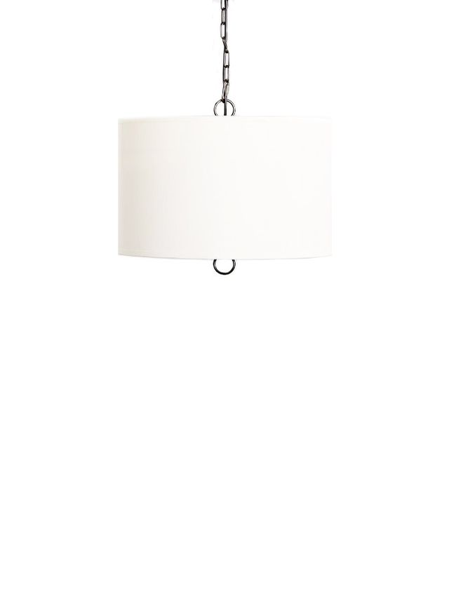 Pottery Barn Large Linen Drum Pendant