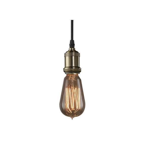 Bulbrite Industries Nostalgic Vintage 1-Light Bare Socket Mini Pendant