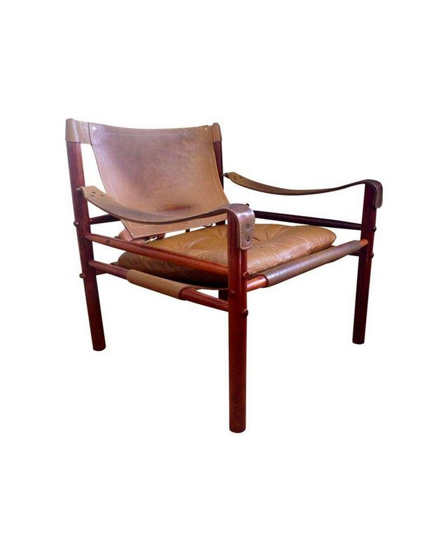 Chairish Arne Norell Safari Chair In Leather & Rosewood