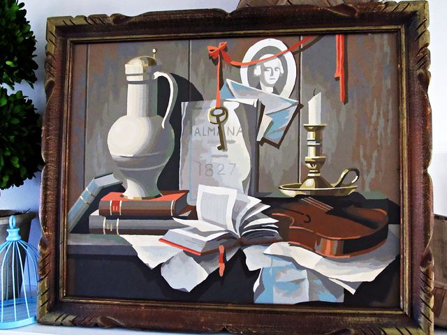 Etsy Large Vintage Still Life Painting