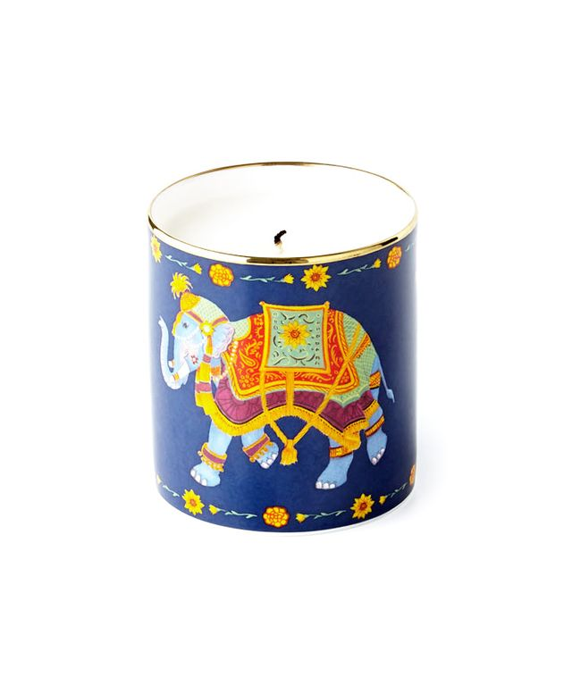 Halcyon Days Enamels Indian Elephant Filled Candle