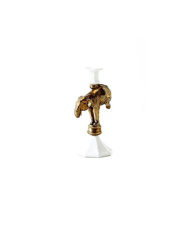 Anthropologie Balancing Elephant Taper Holder